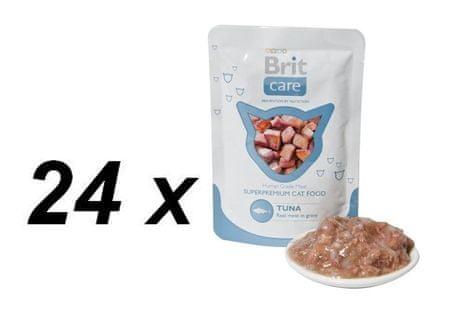Brit mokra hrana za mačke Care, tuna, 24 x 80 g