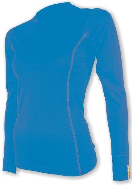 Sensor Merino Wool Active dámské triko dlouhý rukáv modrá M