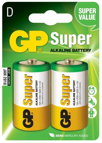 GP Baterie Super Alkaline LR20 - 2ks