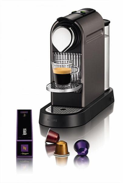 Nespresso Krups CitiZ XN720T + voucher na kávu ZDARMA!