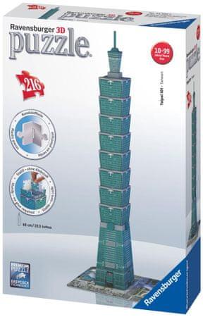 Ravensburger Sestavljanka 3D, 216 delna, Taipei 101