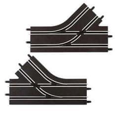 CARRERA 61618 GO/D143 Mechanikus sávváltó szakasz, 2 db