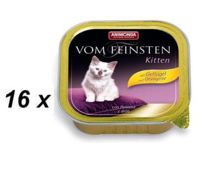 Animonda paštika Kitten drůbeží 16 x 100g
