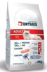 Ontario sucha karma dla kota Adult Chicken 10 kg