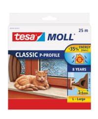 "Tesa Gumové těsnění CLASSIC ""P"" profil 25m, hnědé"