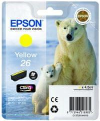 Epson tusz T2614, żółty (C13T26144010)