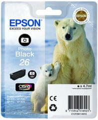 Epson črnilo foto črno za (XP-600, XP-700, EXP-800)