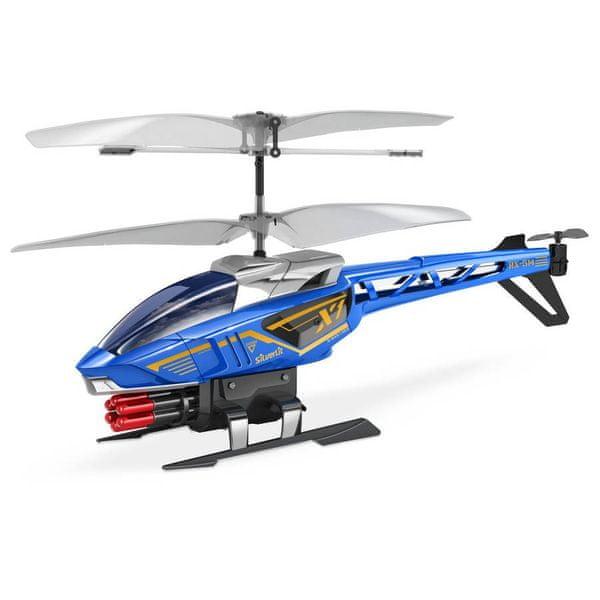 Silverlit R/C helikoptéra Heli Sniper (střílí šipky) modrá