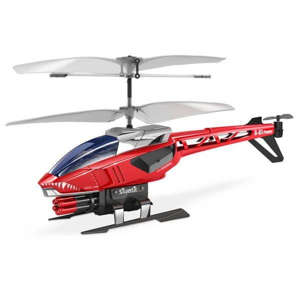 Silverlit R/C helikoptéra Heli Sniper (střílí šipky) červený