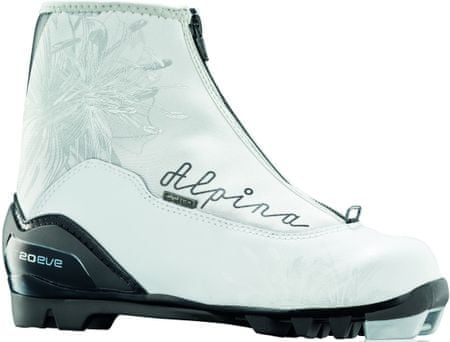 Alpina čevlji za tek na smučeh T 20 Eve, ženski, belo-črni, 40,0