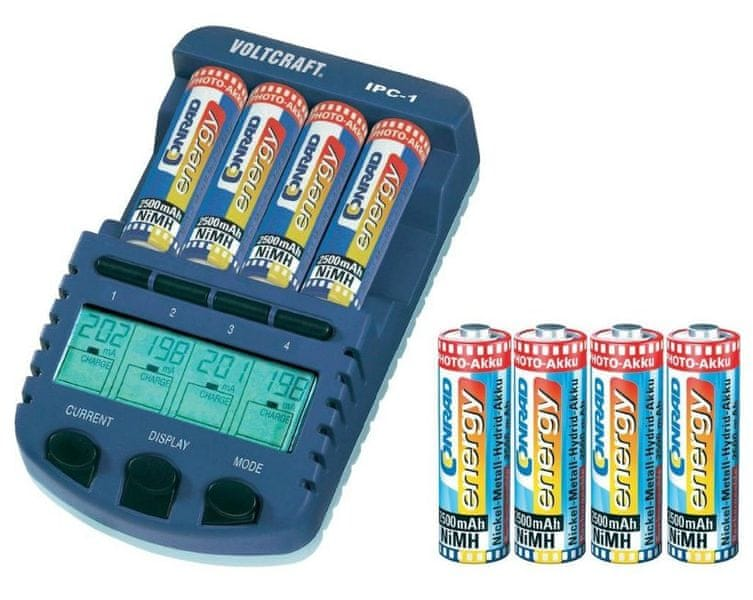 Voltcraft IPC-1 + 8x AA 2500 mAh