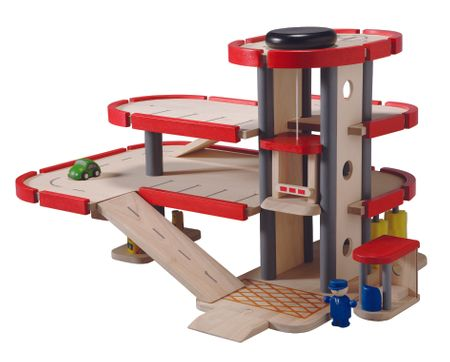 Plan Toys Parkovací garáže včetně příslušenství