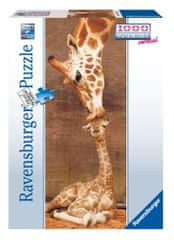 Ravensburger Zsiráf-Puszi Panoráma Puzzle, 1000 db