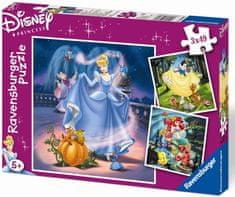 Ravensburger Puzzle Księżniczki 3 x 49