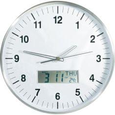 Conrad Nástenné analogové DCF hodiny s LCD (672225)