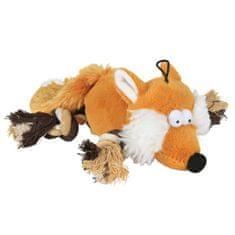 Trixie Plyšová liška s bavlněnými uzlíky 34cm