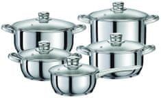 Tefal Sada hrnců - Simple Chef, 10 kusů (A6079054)