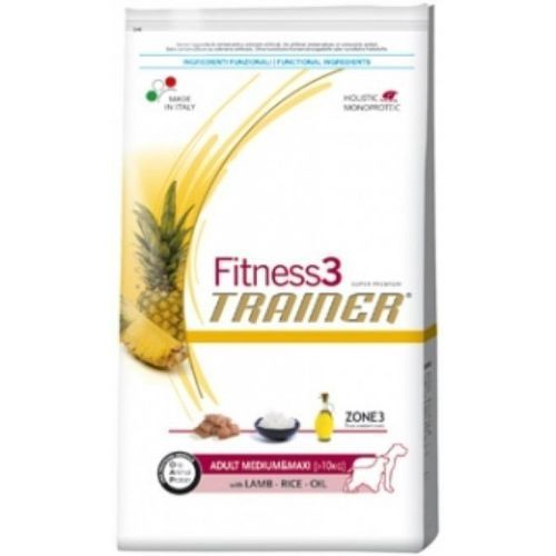 TRAINER Fitness 3 Adult Medium/Maxi Lamb & Rice 12,5 kg