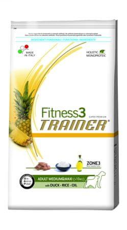 TRAINER sucha karma dla psa Fitness3 Adult M/M Duck&Rice - 12,5kg