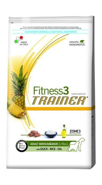 TRAINER Fitness 3 Adult Medium/Maxi Duck & Rice 12,5 kg