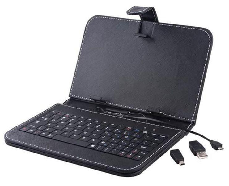 """CPA Univerzální pouzdro s klávesnicí pro 7"""" tablety, černé"""