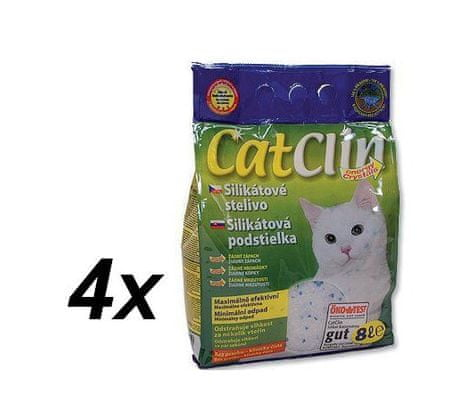 Magic CatClin pesek iz silikatnega gela 4 x 8l