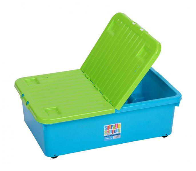 WHAM Box 32 l s víkem a kolečky - modrý