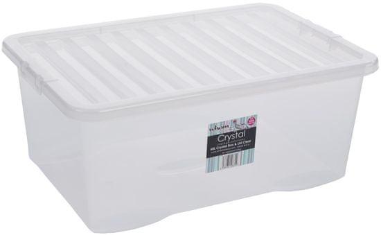 WHAM Pudełko z pokrywą 45l Crystal