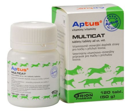 Aptus Multicat Vet Vitamin tabletta, 120 db