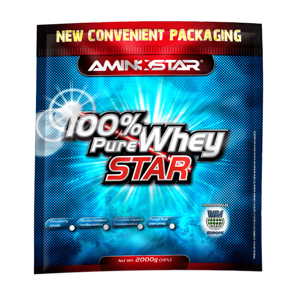 Aminostar 100% Pure Whey Star, 2000 g, lesní plody