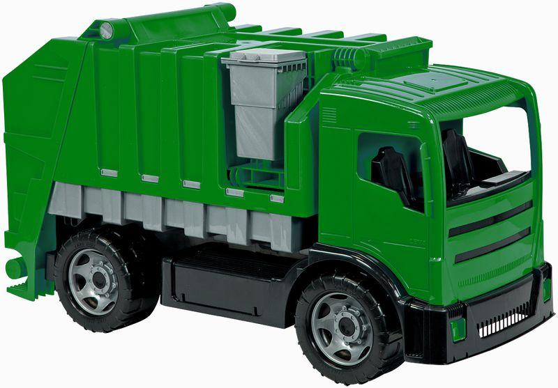 LENA Popelářské auto 2 osé, zelené