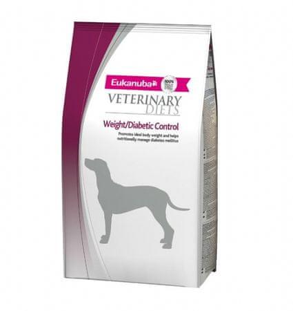 Eukanuba veterinarska dieta za pse z diabetesom in prekomerno težo, 1 kg