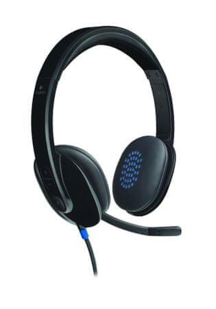 Logitech slušalke USB Headset H540