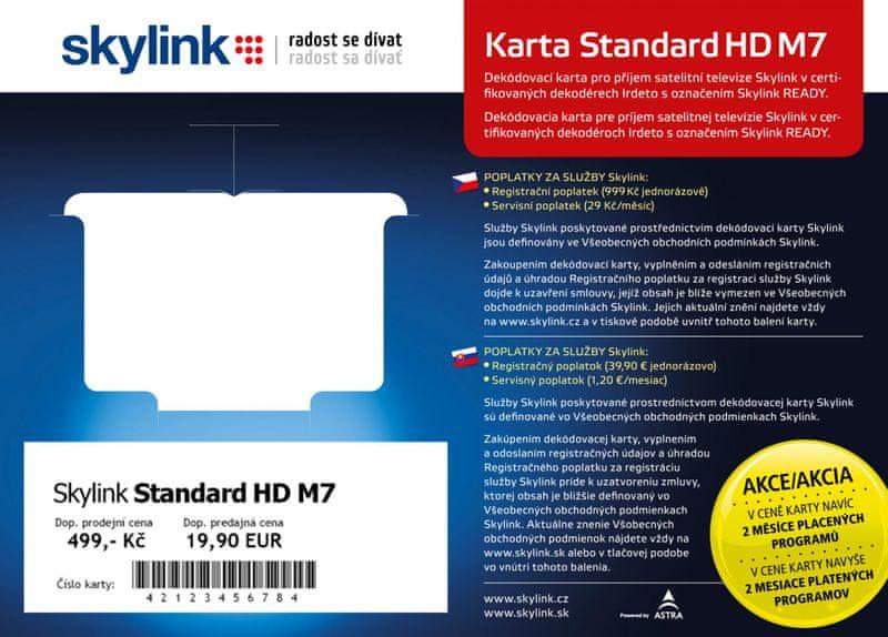 Skylink Karta Skylink standard HD M7 (IR) - II. jakost