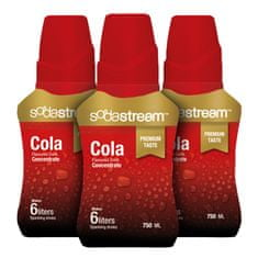 Sodastream Cola Premium 750 ml - 3 sirupy