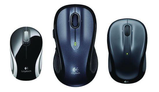 Logitech M187 brezžična miška, črna