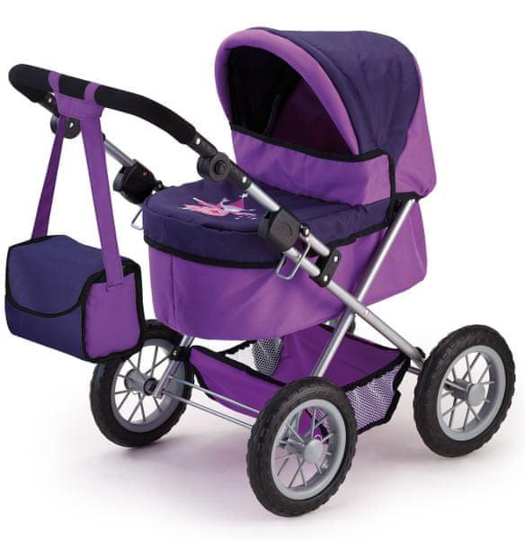 Bayer Design Trendy kočárek pro panenky lila