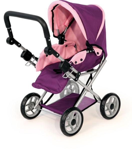 Bayer Design MAXI kočárek pro panenky, fialová - II. jakost