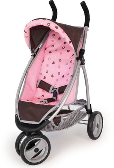 Bayer Design Jogger kočík pre bábiky pink/braun