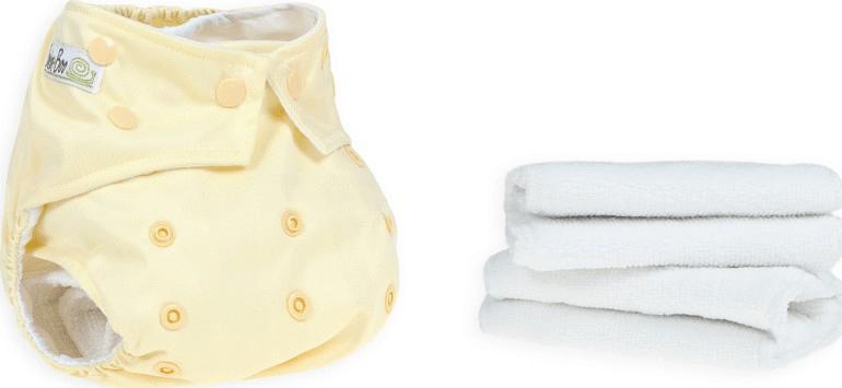 BabaBoo Plenkové kalhotky AIO Lemon Sorbet