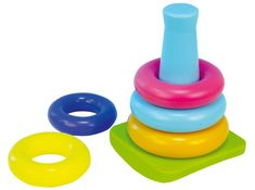 Teddies BABY Stojak z plastikowymi pierścieniami od 5 sztuk w pudełku