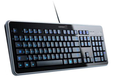 Connect IT CI-45 LED podsvícená klávesnice, USB - II. jakost