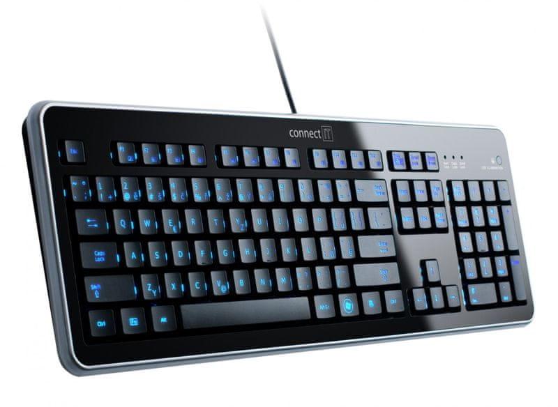 Connect IT CI-45 LED podsvícená klávesnice, USB