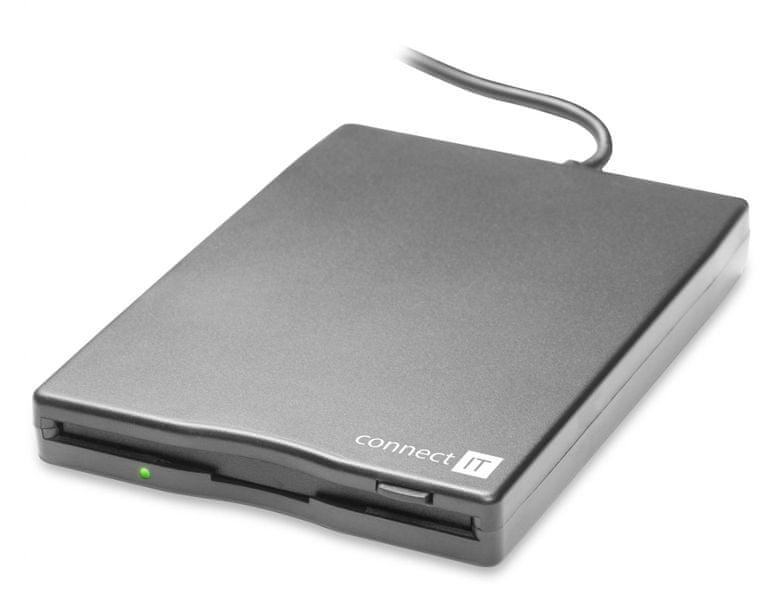 """Connect IT Externí disketová 3.5"""" FDD mechanika, USB (CI-130)"""
