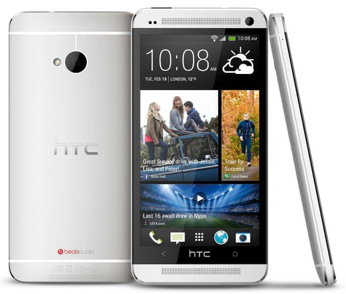HTC One DualSim, stříbrný - II. jakost