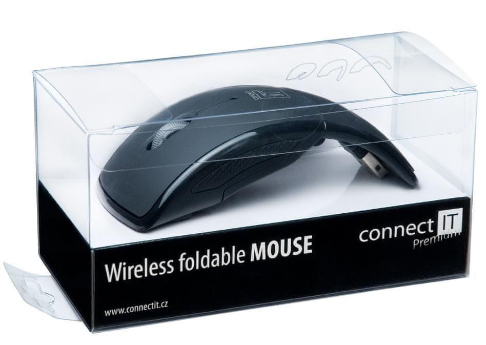 Connect IT CI-43 Bezdrátová skládací myš černá