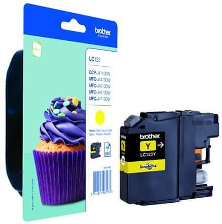 Brother tinta LC123Y, yellow, 600 stranica