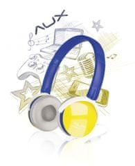 Speed-Link AUX - FREESTYLE Stereo Headset, blue-yellow