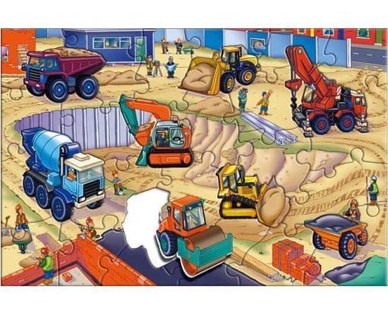 GALT Veľké podlahové puzzle - na stavenisku