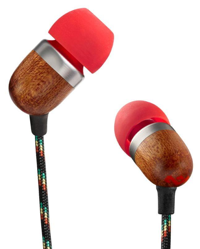 MARLEY Smile Jamaica - Fire sluchátka s mikrofonem
